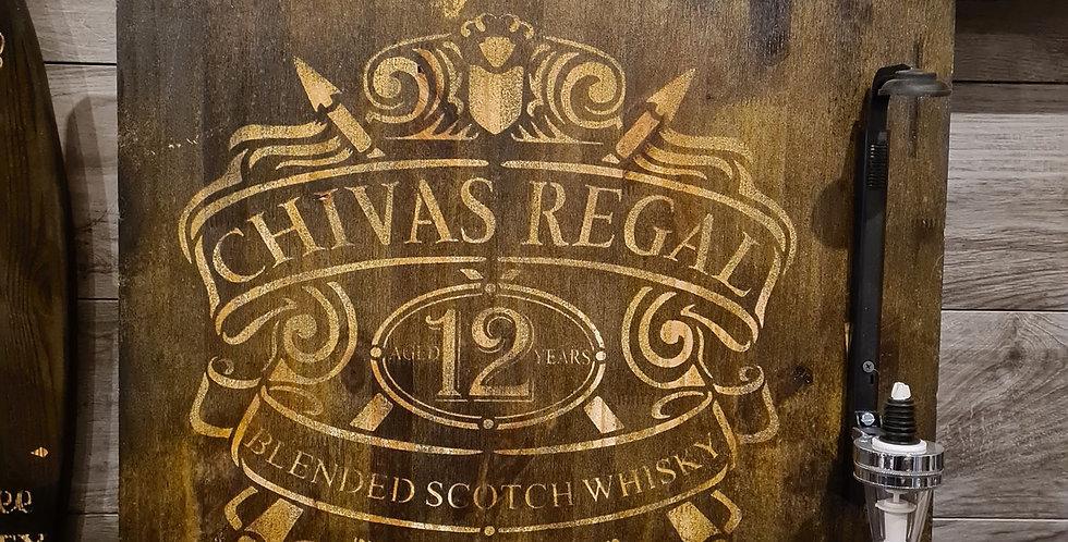 Support bouteille gravé Chivas Regal