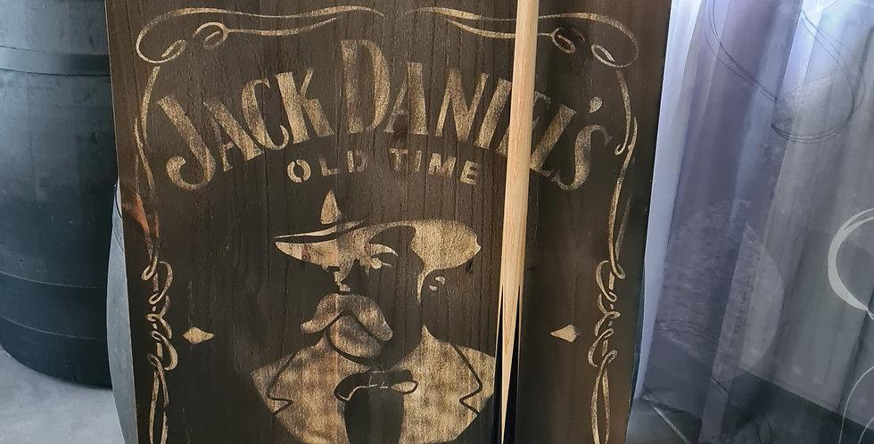 Support queue de billard gravé  visage Jack Daniel's