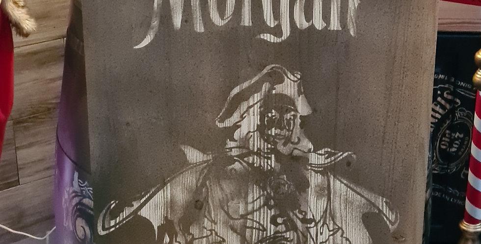 Support queue de billard gravé Captain Morgan