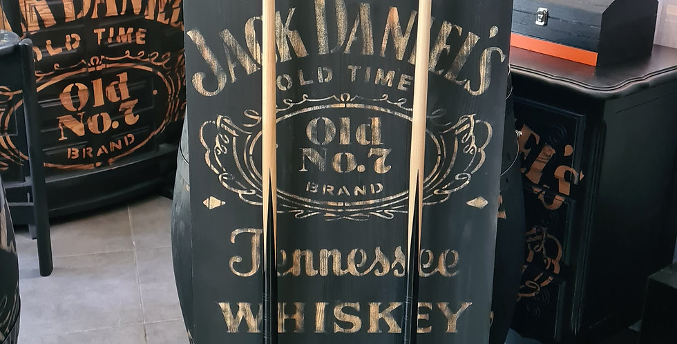 Support queue de billard NOIR gravé Jack Daniel's