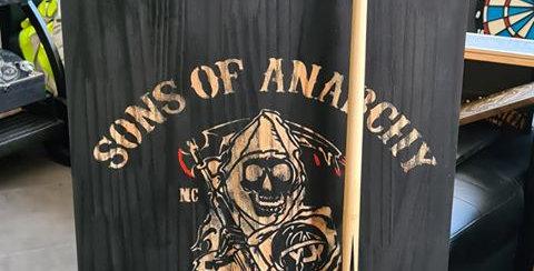 Support queue de billard gravé Sons of Anarchy