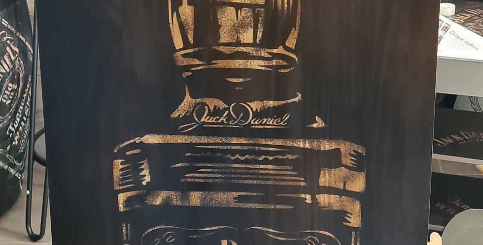 Support queue de billard gravé bouteille  Jack Daniel's