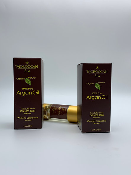 Pure Argan Oil, Duo bottles 0.5 floz each