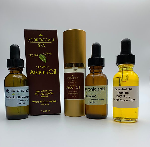 Hyaluronic Acid - Duo + Rosehip Oil 0.5oz +Argan Oil 1oz