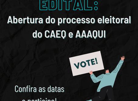Processo eleitoral do CAEQ e AAAQUI