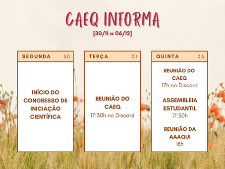 [30/11 – 06/12] CAEQ Informa