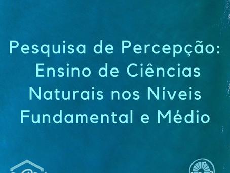 Divulgação - Pesquisa sobre Ensino de Ciências Naturais
