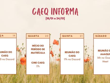 [18/01 – 24/01] CAEQ Informa