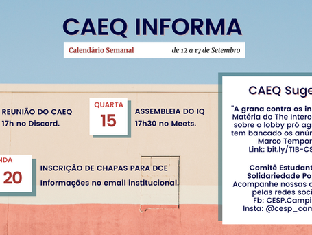 CAEQ INFORMA [12 - 17/09]