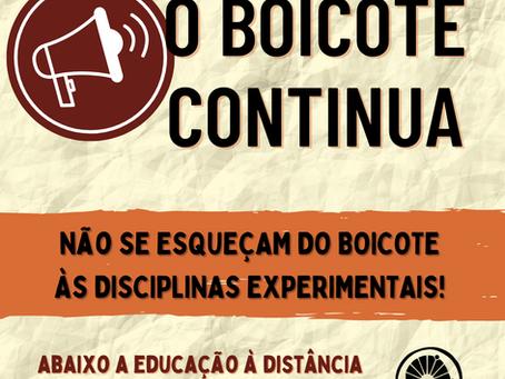 Chamado ao boicote de disciplinas 1s/2021