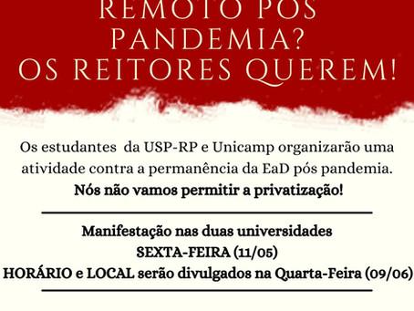 Nota - USP-RP e UNICAMP contra a EaD!