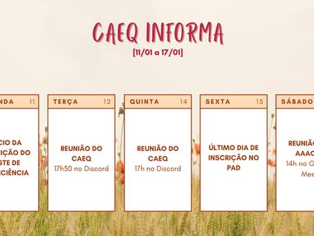 [11/01 – 17/01] CAEQ Informa