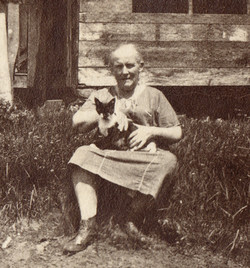 Unknown woman and dog