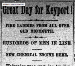 Newspaper headline: Great Day for Keyport