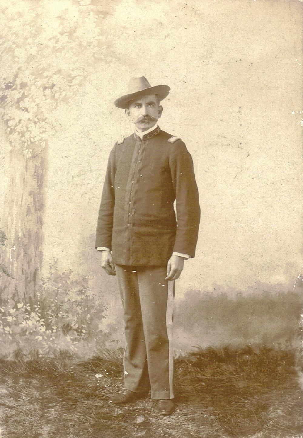 Herman Oscar Bauer in field uniform, about 1895