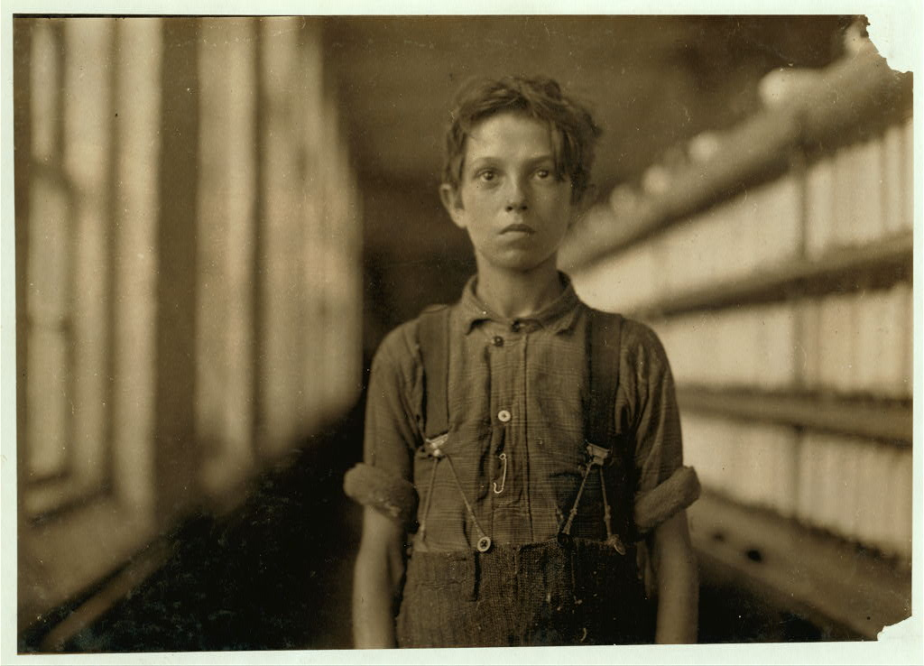 Boy in a Vermont mill
