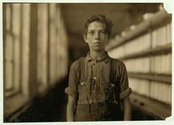 Boy in a Vermont mill