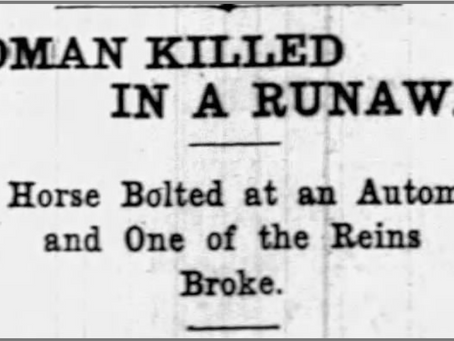 Was it the tragic runaway horse death? The penniless mill hand? Or my 90-year-old cousin's famil