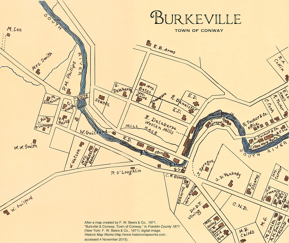 Map of Burkeville