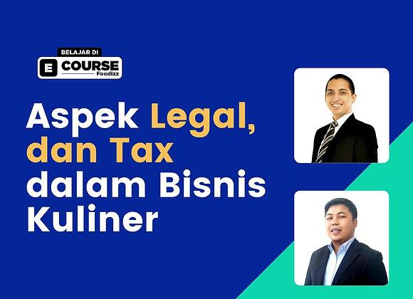 [PRE ORDER] E-Course Aspek Legal dan Tax dalam Bisnis Kuliner