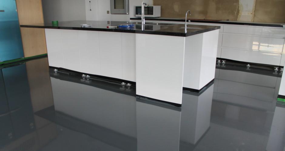 piso porcelanato liquido cinza
