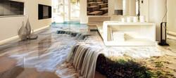 Piso 3d cachoeira quarto