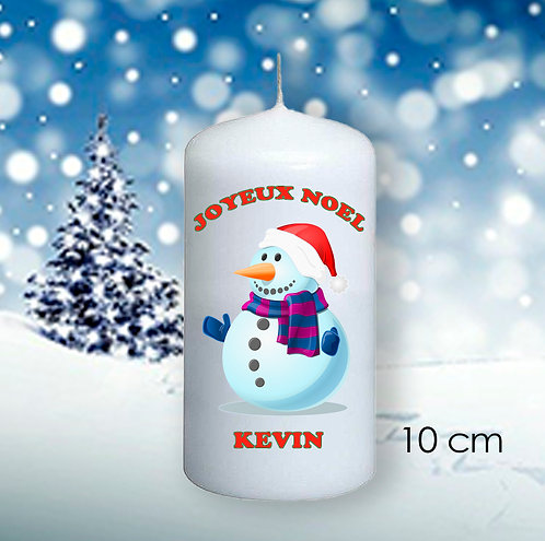 Bougie de Noël avec prénom  - 1011