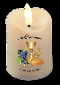 bougie led cadeau invité communion ou entreprise