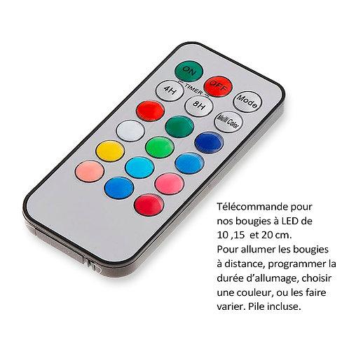 Télécommande pour les bougies à LED de 10 , 15 et 20 cm