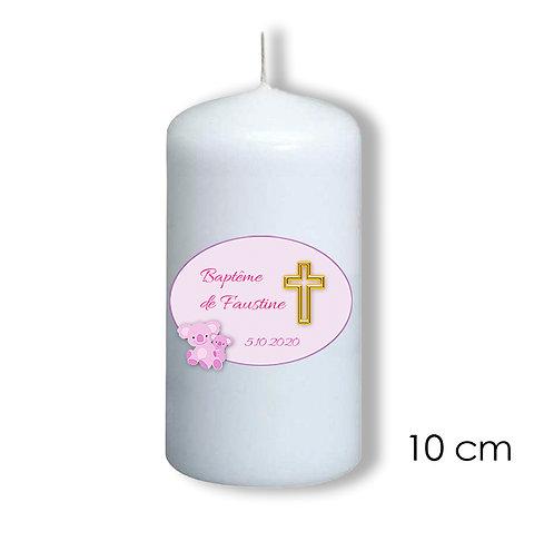 Bougie de baptême pour fille - 101