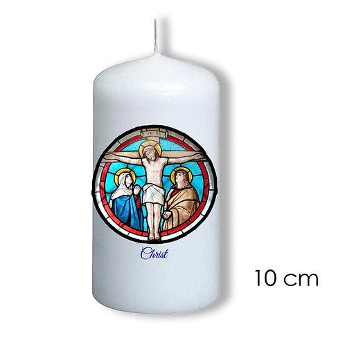 Bougie de dévotion - Christ vitrail -  505