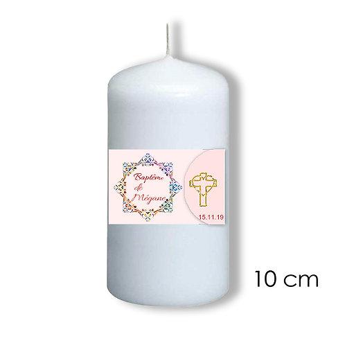 Bougie de baptême pour fille - 303