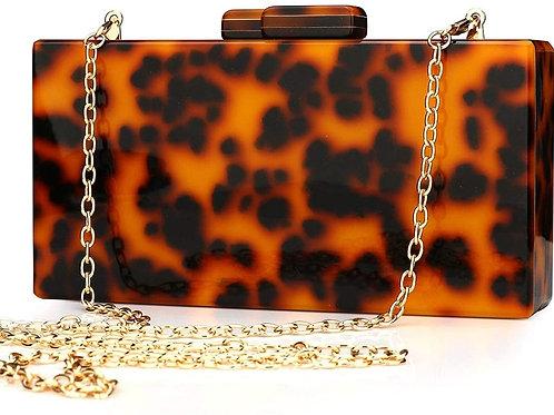 Acrylic Clutch Purse Perspex Box Colorful Geometric Design Handbags for Women
