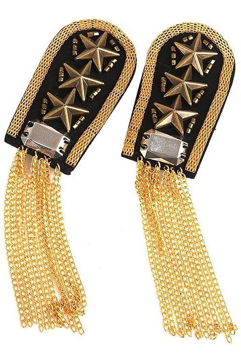 Gold Shoulder Tassels