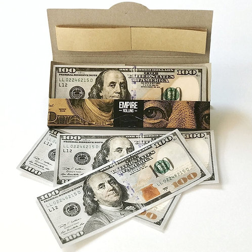 100 Dollar Bill Rolling Paper