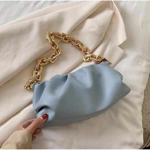 Soft Blue Cloud Handbag