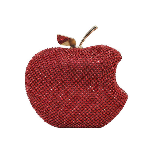 Rhinestone Big Apple Clutch
