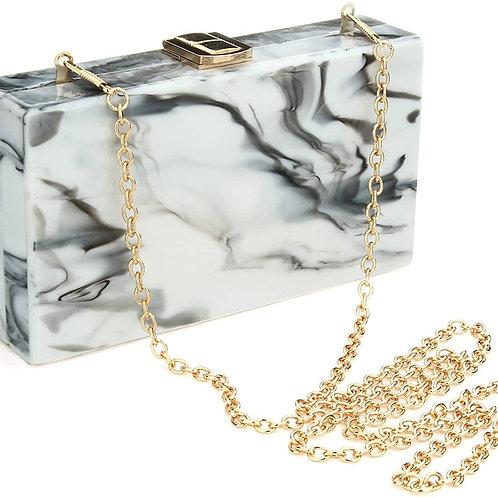 Clutch Purse Perspex Box Colorful Geometric Design Handbag