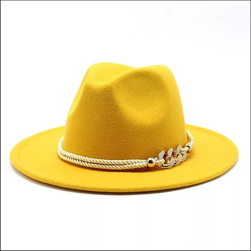 Canary Yellow Fedora Hat
