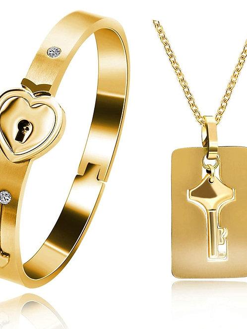 Couple Heart Lock & Key Set