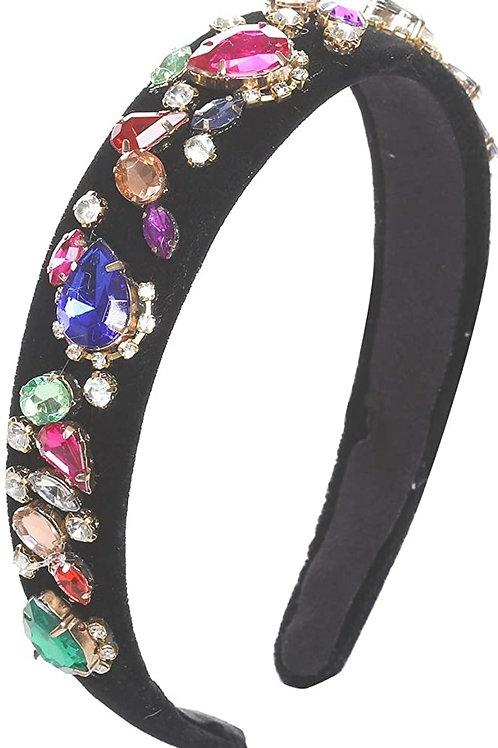 Crystal Rhinestone Wide-edge Headband