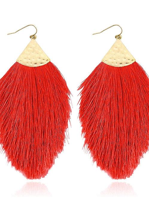 Bohemian Silky Thread Fringe Earrings