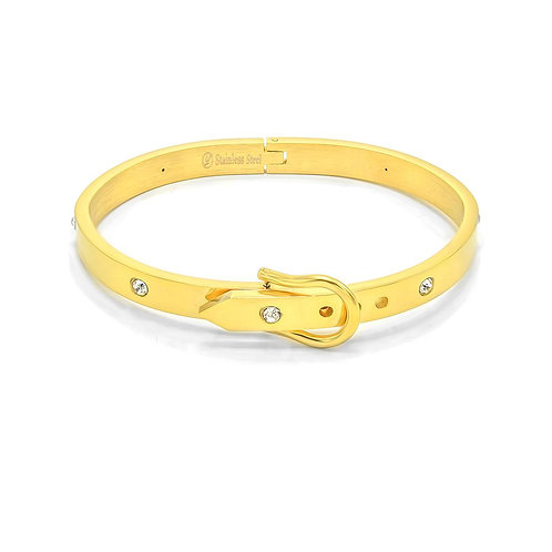 Gold Belt Buckle Cuff Bracelet