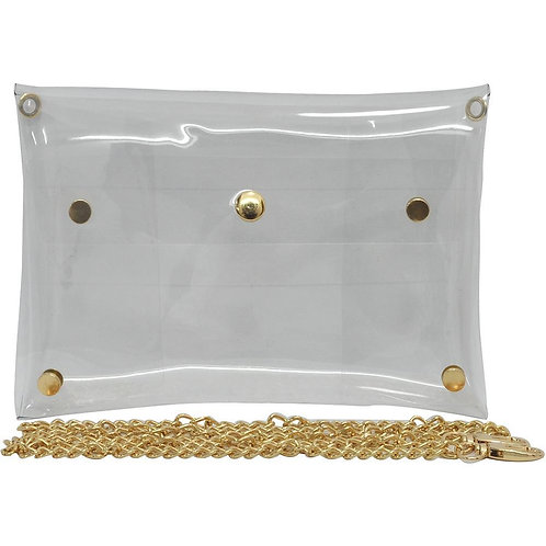 Clear Stadium Clutch Bag