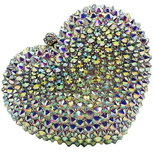 Silver Diamond Shaped Handbag