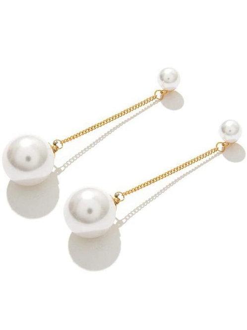 Pearl & Gold Drop Earrings