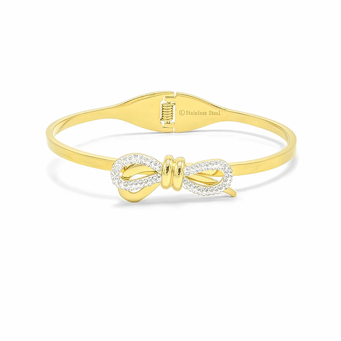 Gold Bowe Cuff Bracelet