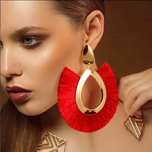 Bohemian Big Tassel Dangle Drop Earrings
