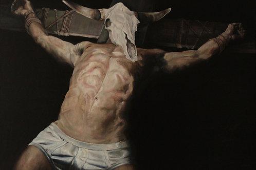 16056-ETAT DES LIEUX-huile sur toile de lin-162x114cm