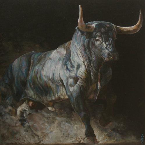 20104-TORO-huile sur toile de lin-60x60cm